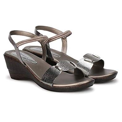 Denill Women's Comfortable Wedge Heel Fashion Sandal (Copper)
