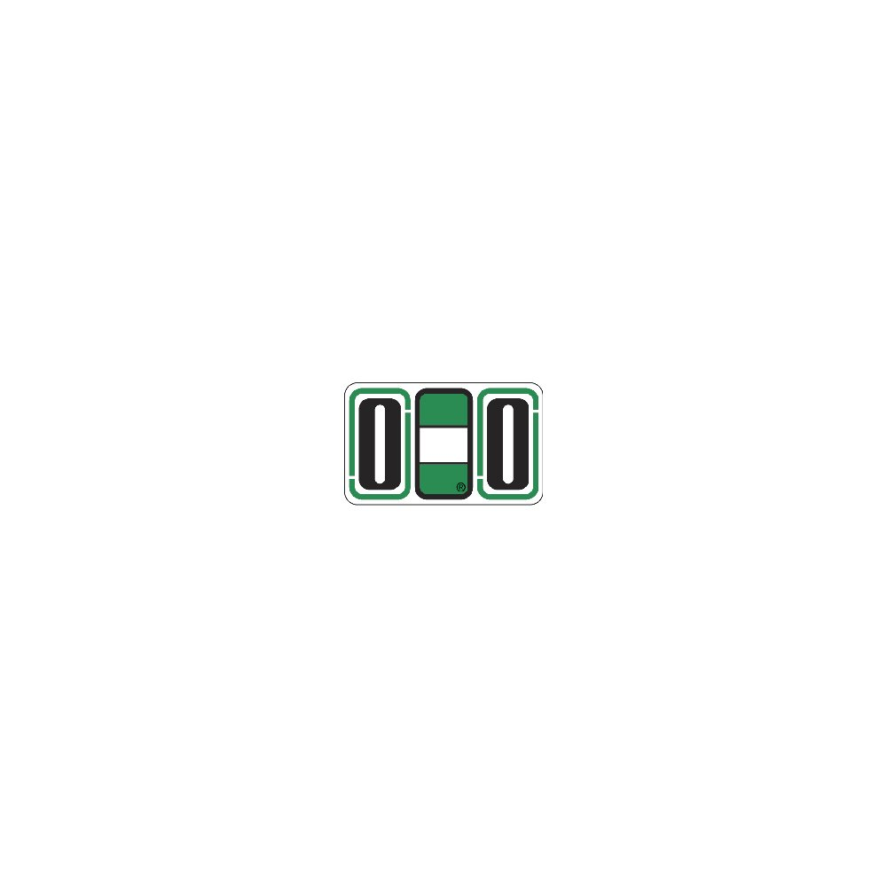 JETER COMPATIBLE 7725 Double J Color Code Label, Permanent, Alpha''O O'', 1 5/8'' x 15/16'', Green and White (Pack of 240)