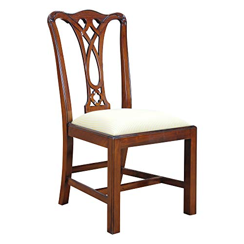 NDRSC045 PAIR of Country Chippendale Side Chairs by Niagara Furniture - Mahogany Chippendale Style Side Chair