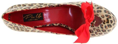 UK Cheetah CUTIEPIE Couture 36 Tan 06 EU PU 3 Up Pin Print x7wa8Y