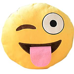 Amazon.com: e.a @ Mercado Creative QQ Emoji Throw almohada ...