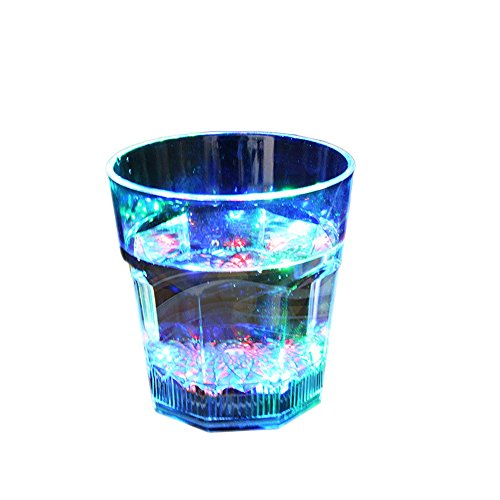 Fashion Octagonal Shape Plastic Shining Led Flash Light Up Party Home Cups - Octagonal Shape