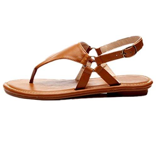 Les nouvelles sandales plates femelles non - slip loisirs plage Ding mot chaussures