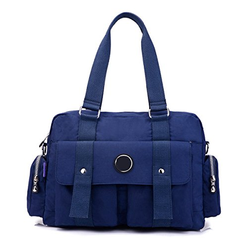 Frauen Jahrgang Leinwand Schulter Aktentasche Messenger Handtasche Seite Geschäft Tasche ,D-OneSize