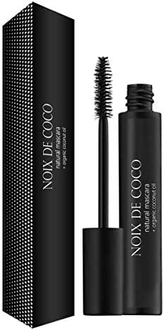 ORGANIC COCONUT OIL MASCARA by Noix de Coco - 100% Natural, Cruelty Free, Gluten Free - Repairs, Nourishes and Conditions Eyelashes with Vitamin E- Perfect for Sensitive Eyes (Brown)