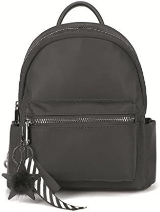 ガールズバックパックカジュアルバックパックジッパースクエアバックパック(ブラック) (色 : Black)