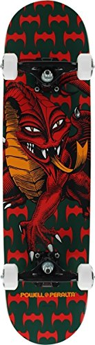 POWELL PERALTA CAB DRAGON SKATEBOARD COMPLETE-7.75 GRN/RED (Dragon Cab Powell)