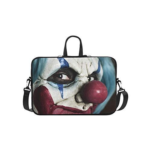 Evil Scary Clown Monster Pattern Briefcase Laptop Bag Messenger Shoulder Work Bag Crossbody Handbag for Business -