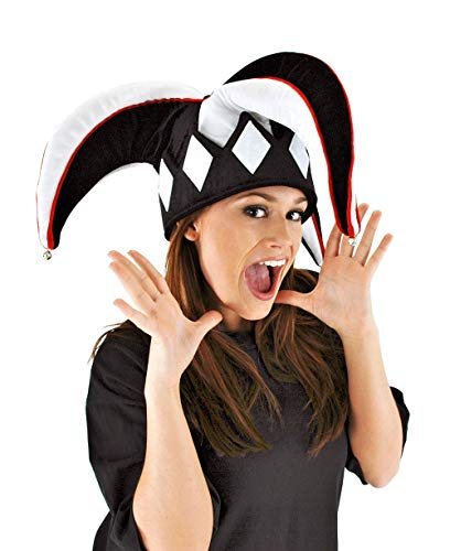 elope Court Jester Hat Black and White for Adults ()