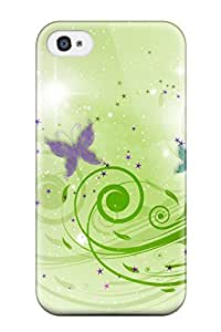 Sanp On Case Cover Protector For Iphone 4/4s (butterfly Designs)