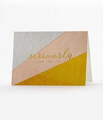 Contemporary Bias Cut Thank You Cards (6 Pack) By Elum Designs Hand Drawn Personalized Christmas Cards