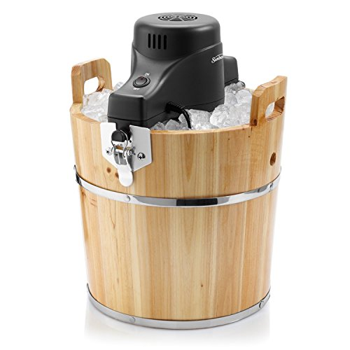 (Sunbeam FRSBWDBK- NP 4-Quart Ice Cream Wooden Bucket)