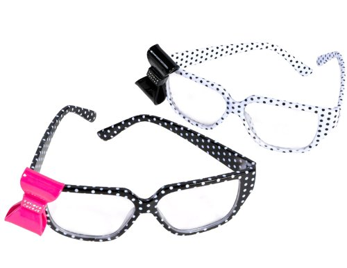 Polk A Dot Nerd Glasses With Bow