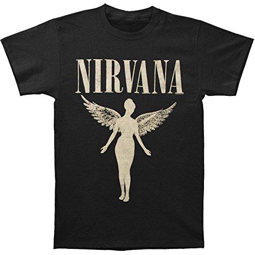 - Nirvana Men's In Utero Tour Slim Fit T-shirt X-Large Black