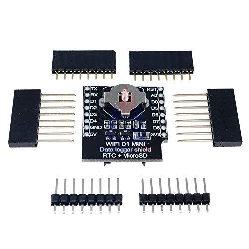 マイクロ SD Wemos D1 ミニデータロガーシールド + RTC DS1307 時計 Arduino の/ラズベリー