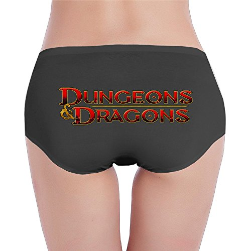 Price comparison product image BOADungeons & Dragons Game Seamless For Women's Low-Waist Underpants Size S Black