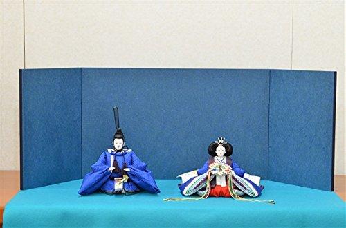 ひな人形 きよら スカイブルー コンパクト中型 シンプルタイプ 親王毛せん飾りkb37aq 132458319   B01MU7COOH