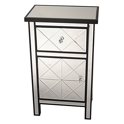 Heather Ann Creations Traditional Accent Console with Front Beveled Mirrored Finish, 32.7'' x 20'', Black by Heather Ann Creations (Image #3)
