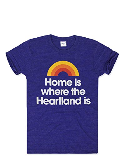 Charlie Hustle Unisex Hometown Home Is Where The Heartland Is T-Shirt S Navy Blue