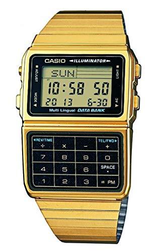 Casio #DBC611G-1D Men's Gold Tone 25 Memory Calculator Databank Watch by Casio