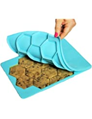 Shape+Store Smart Cookie Innovative Cookie Cutter and Freezer Container, Baker's Dozen X2, Blue