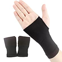 Kalevel 2pcs Wrist Wraps Wrist Brace Carpal Tunnel Tendonitis Hand Wrist Support Weight Lifting Crossfit Fitness Bowling Sports Gymnastics Compression Wrist Sleeve Wrist Band for Men Women (S, Black)
