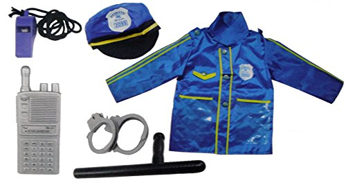 Pc Police Costume (Police Officer Kids Costume Role Play Set (6 Pcs))