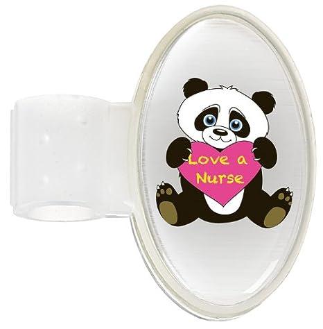 Ncd medical/prestige medical s8 - Cdn - clip identificador para estetoscopios, diseño de oso panda con texto
