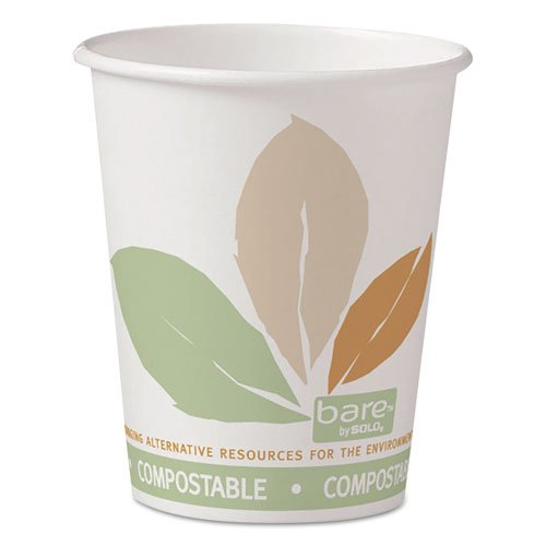 SOLO Cup Company Bare Eco-Forward Paper Hot Cups, 10 oz., Bare Design, 50/Bag - Includes 20 sleeves of 50 cups. 1000 per case.
