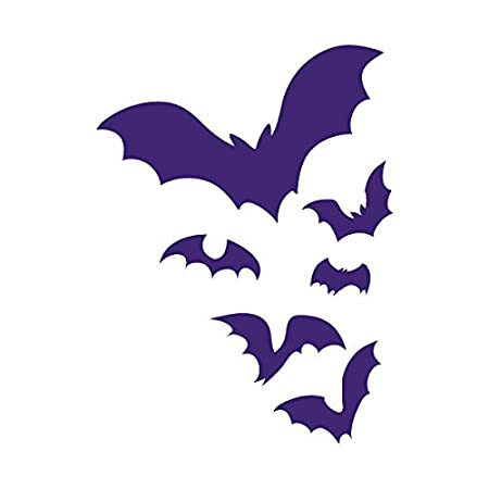Black 6 inch Applicable Pun ATV Windows and More Vinyl Decal for Outdoor Use on Cars Boats Flock of Bats Flying through the Night Colony Frightening