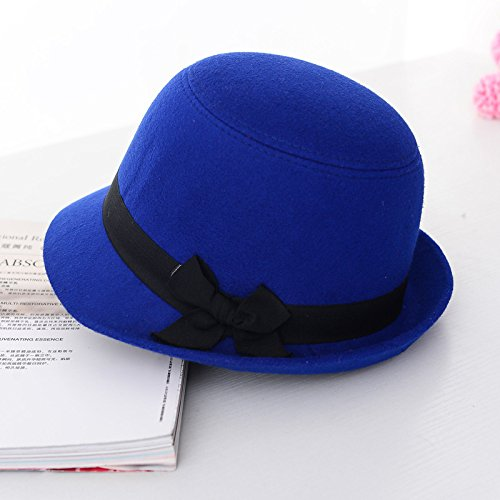 Bingo Point Vogue Ladies Women Girls Sun Hats Vintage Bowler Trilby Bowknot Fedoras Autumn Winter Hats Lady Cute Wool Felt Cloche caps