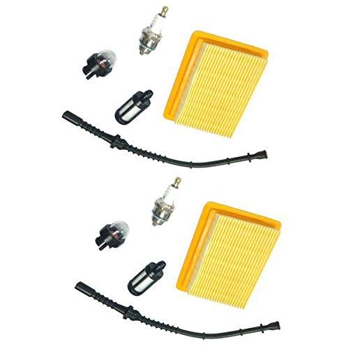 Homyl 2 Pz String Trimmer Filtro Aria Tubazione Carburante Candela Per STIHL FS400 450