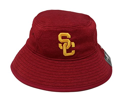 - Trojans New Era Hat USC College Bucket Cardinal Headwear Cap