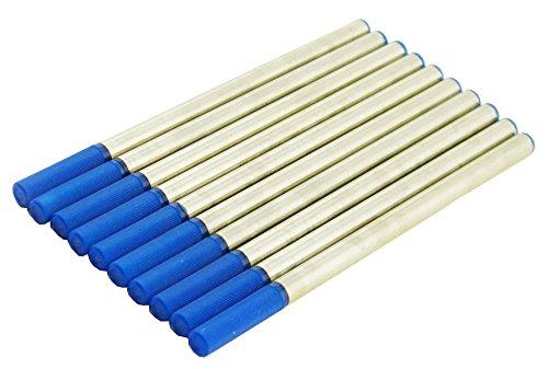 Blue Ink Rollerball Pen Refills Fit Jinhao , Duke , Fuliwen , Baoer Roller Ball Pen , Set of 10 PCS , Push Type 110 (Fit Roller Ball Refill)