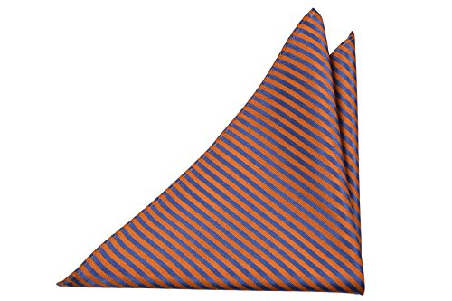with Pocket stripes Men's Blue Square base orange Notch Silk qxEAYwBwR