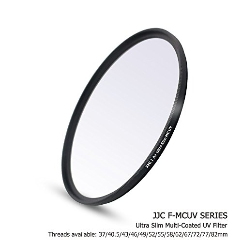 JJC 43mm Multi-Coated Ultraviolet UV Filter for Lens with 43mm Filter Thread - e.g. for Fuji Fujifilm XF 23mm f/2 R WR, XF 35mm f/2 R WR, Canon EF-M 22mm f/2 STM, EF-M 28mm f/3.5 IS STM (Fuji Lens Filter)