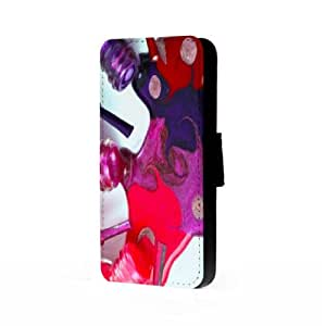 Nail Polish Spill Art - Samsung Galaxy S4 Trifold Wallet Case