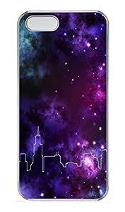 iPhone 5 5S Case Chicago Skyline Space PC Custom iPhone 5 5S Case Cover Transparent