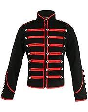 Jawbreaker Men's Steampunk MCR Military Parade Jacket