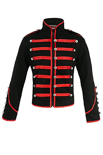 - Jawbreaker Men's Steampunk MCR Military Parade Jacket X-Large Black & Red