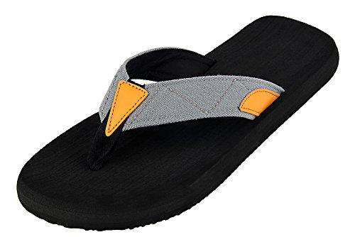 Sandales Plage flops Nu Ilovesia Gris Tongs Noir Homme Pieds Chaussure De flip 39 Piscine 5 47 UYwYBq