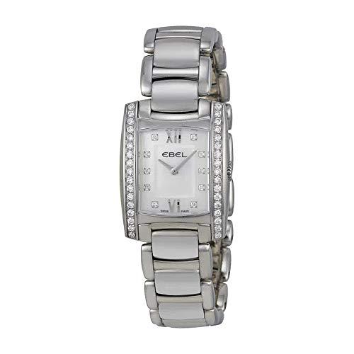 Ebel Brasilia Mini White Mother of Pearl Diamond Dial Ladies Watch 1215607