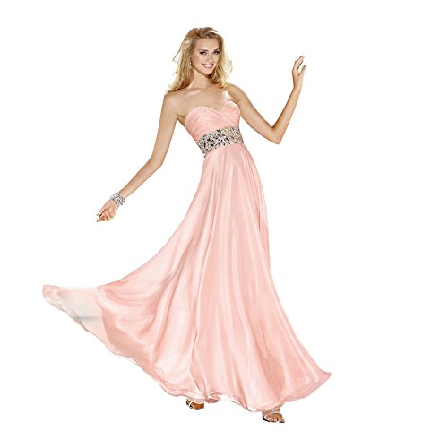 Alyce Paris Strapless Chiffon Gown Rosewater – 6