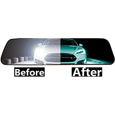 Car Rear View Mirror Anti-Glare Film Interior Rearview Mirror Anti Glare Membrane Anti-Scratch Sticker Safe Driving Protective Film: Automotive