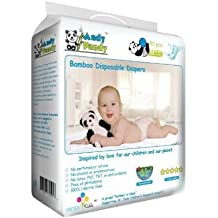 Eco Friendly Premium Bamboo Disposable Diapers by Andy Pandy - Newborn (NB) - For Babies Weighing 5-10 lbs - 50 count