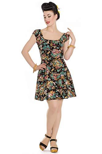 Hell Bunny Monte Carlo Tropical Mini Pinup Rockabilly Dress (2XL)