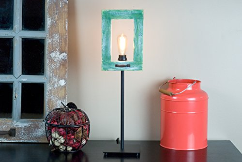 Rustic Frame Light – Handmade Green Frame Lamp – Desk Frame Lamp – Tabletop Frame Lamp – Unique Desk Frame Lamp – Gift Frame Lamp.