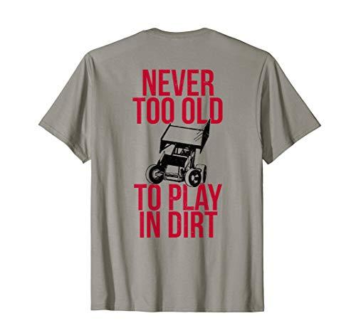 Funny Sprint Car Driver Team Racing Play Dirt Track Shirt