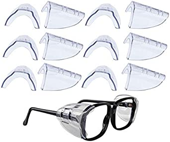 2//1 Pairs Side Shields for Eye Glasses Slip On Safety Glasses Shield Universal