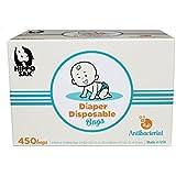 Hippo Sak Antibacterial Diaper Disposal Bags, 450 Count, white